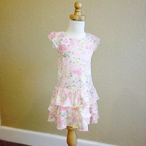 Gymboree GARDEN BLOOM tiered ruffle flower dress 4